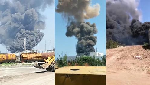 葫芦岛化工厂起火 2人重伤身亡 爆炸现场浓烟滚滚